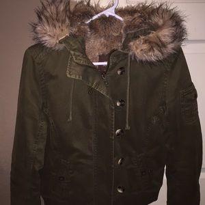 olive green old navy jacket